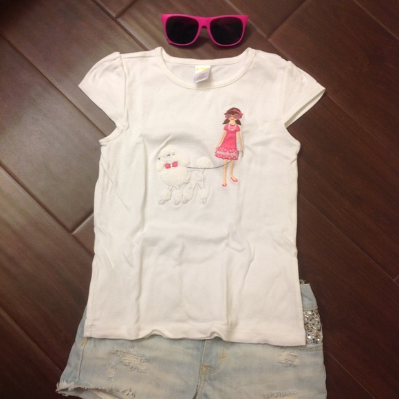 Gymboree Kids Girls Tee T-shirt Top Size 5t White Short Sleeve 100% Cotton Clothing, Shoes & Accessories